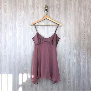 Victoria's Secret Purple Satin Chiffon Slip Dress